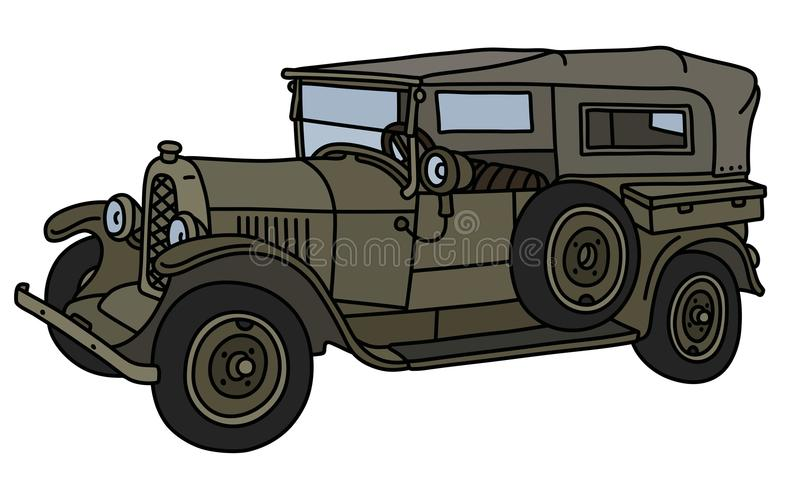Винтажный воинский автомобиль бесплатная иллюстрация