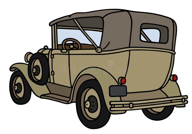 Винтажный воинский автомобиль иллюстрация вектора