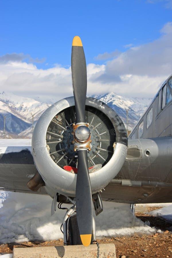 Винтажный воинский самолет стоковая фотография rf
