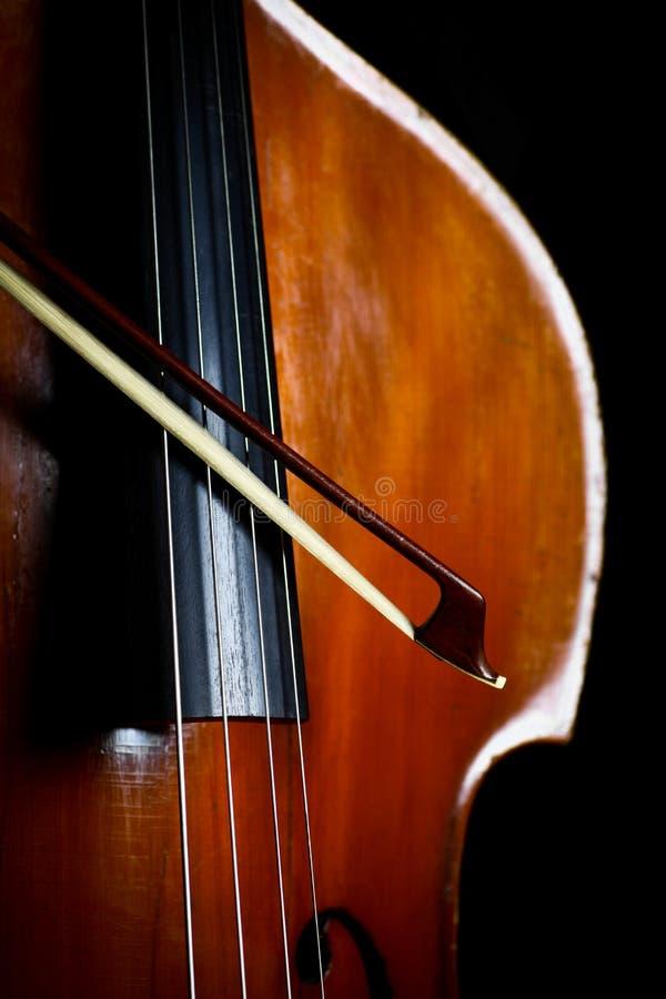 Винтажный двойной бас стоковое изображение