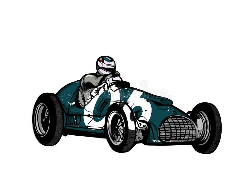 Винтажный гоночный автомобиль спорта иллюстрация вектора