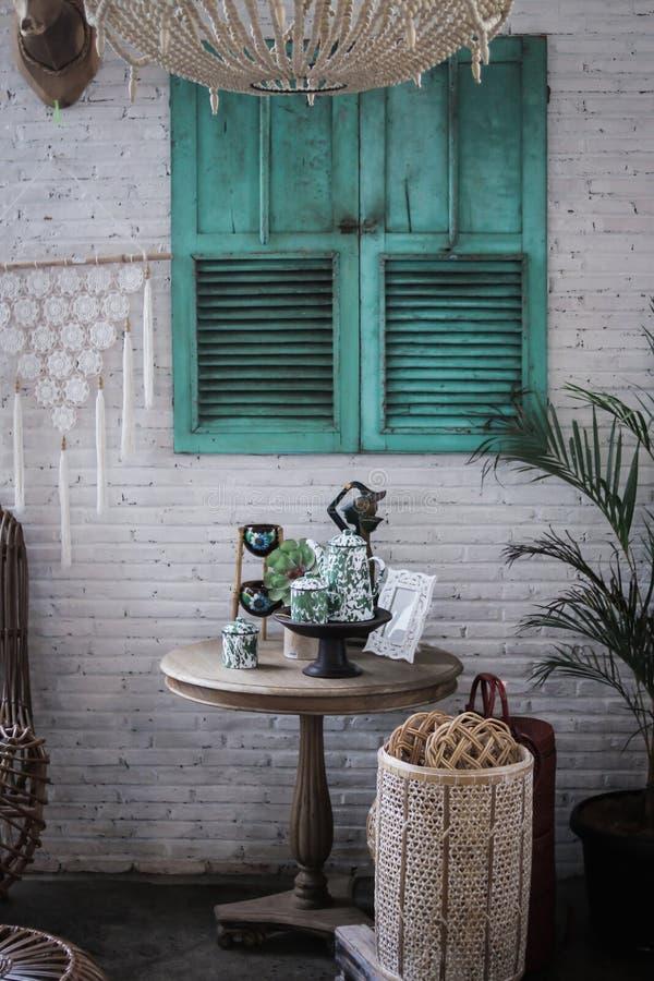 Винтажный дизайн интерьера стиля в vilage semilir стоковая фотография rf