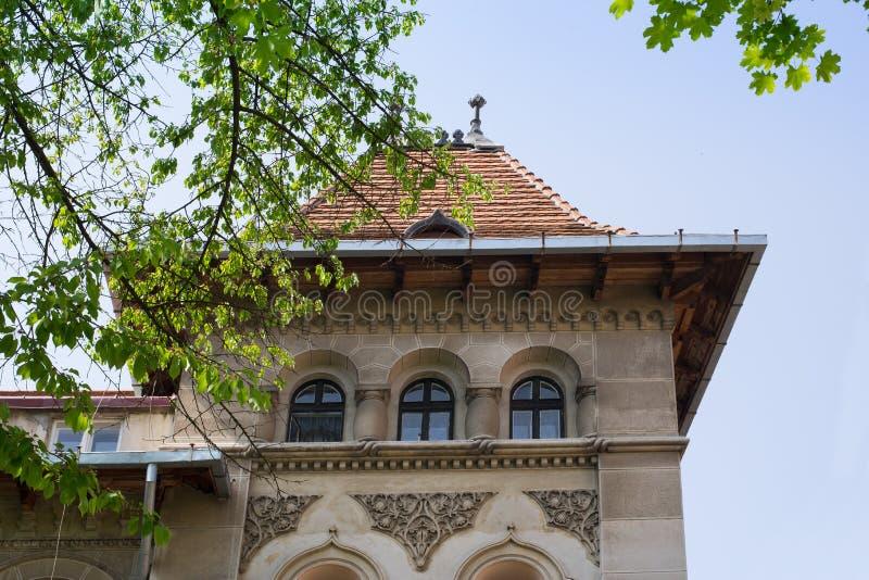 Винтажный дом австрийской конструкции XIX века в городе Chernivtsi стоковая фотография