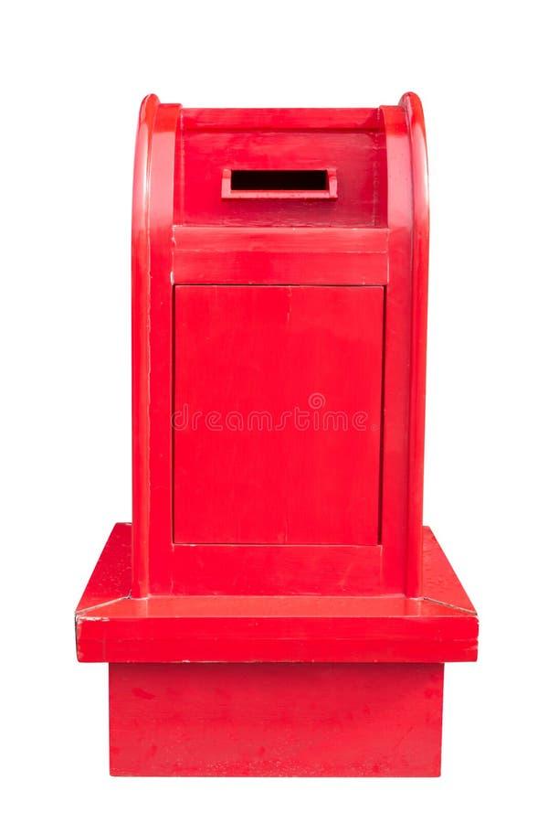 Винтажный деревянный почтовый ящик изолированный на белизне с путем клиппирования стоковые изображения