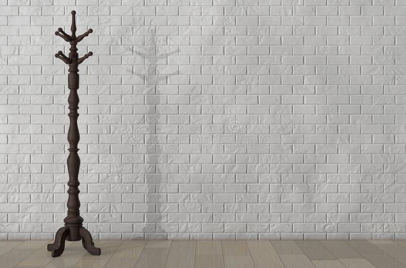 Винтажный деревянный шкаф пальто перевод 3d бесплатная иллюстрация