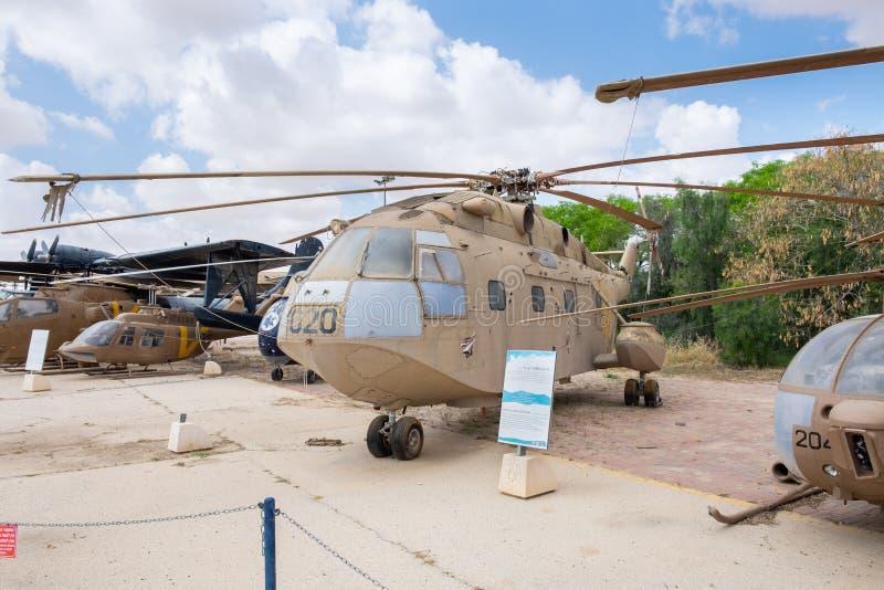 Винтажный защитник MD 500 McDonnell Douglas показал на израильском музее военновоздушной силы стоковая фотография rf