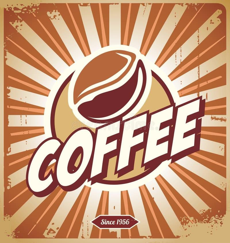 Винтажный знак кофе иллюстрация вектора