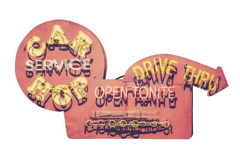 Винтажный знак обедающего Carhop стоковая фотография