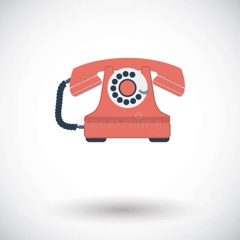 Винтажный значок телефона иллюстрация вектора