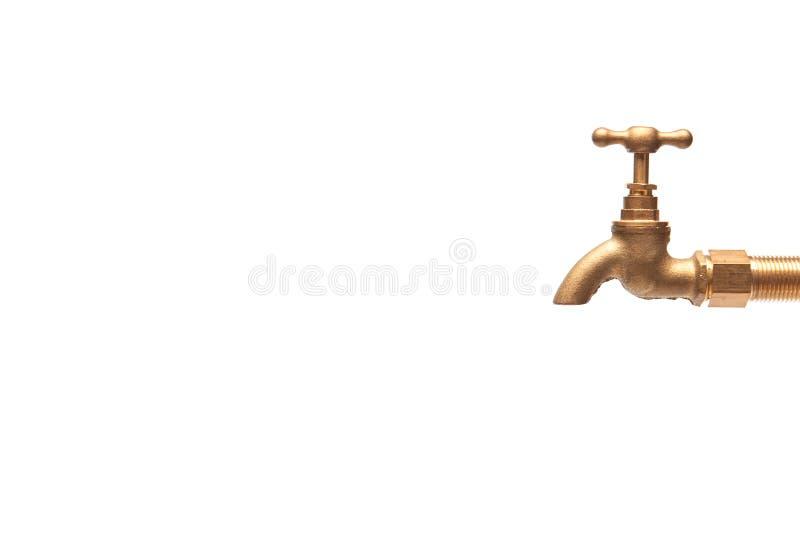 Винтажный золотой латунный клапан стоковые изображения