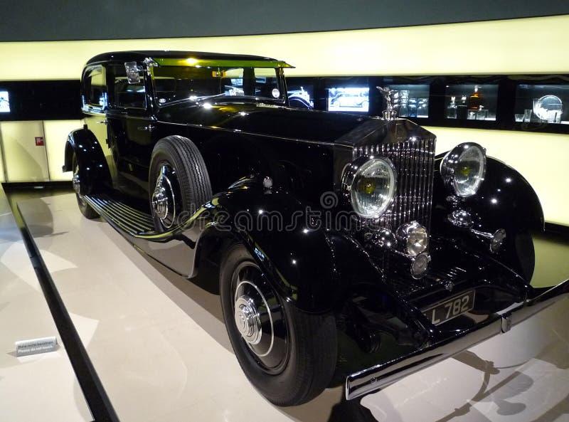 Винтажный дисплей Rolls Royce на музее BMW стоковая фотография