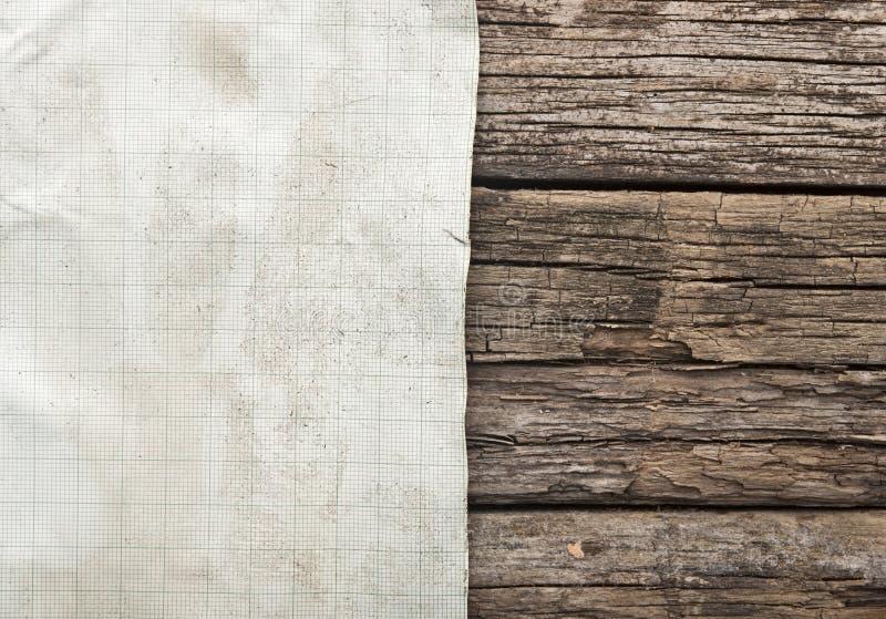 Винтажный лист миллиметровки стоковое фото