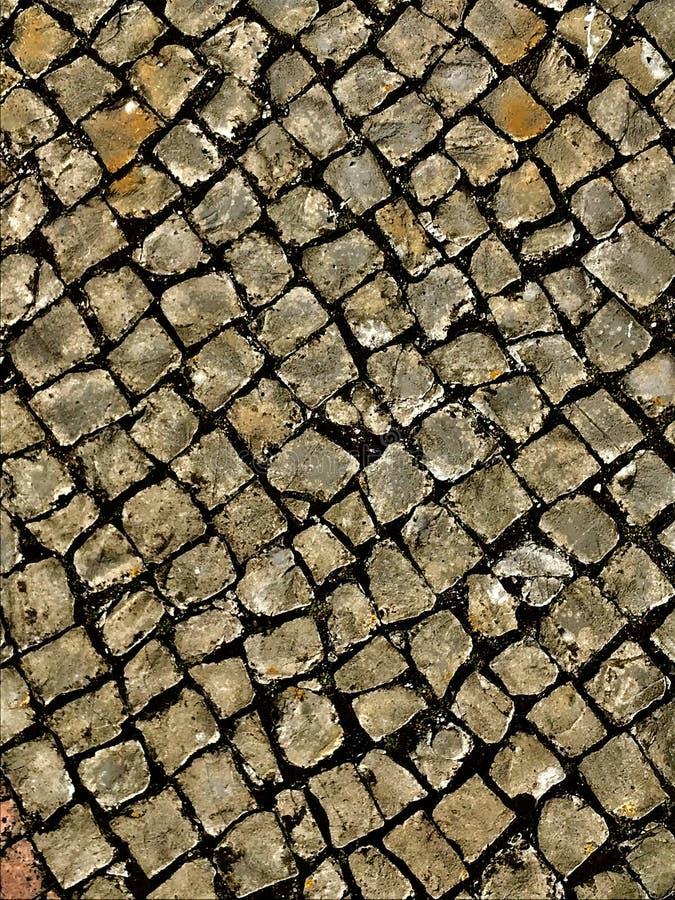 Винтажный квадратный пол в Лиссабоне стоковое фото