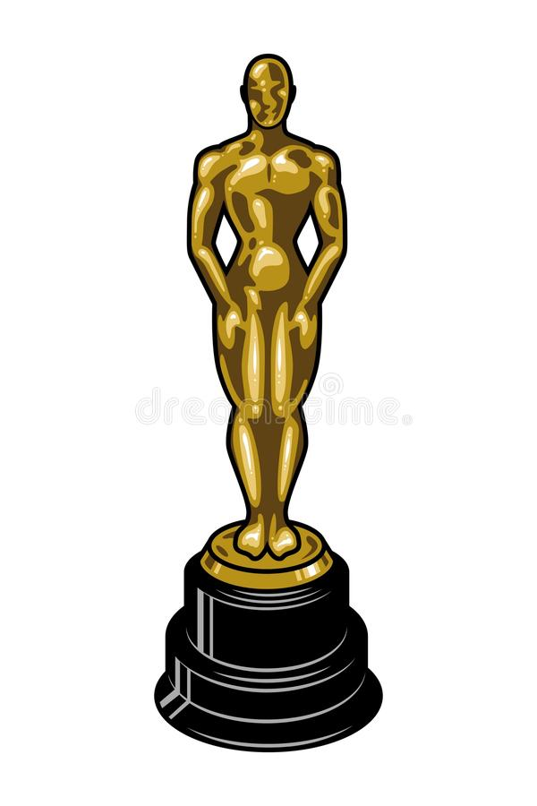 Винтажный кинематографический шаблон премии Американской киноакадемии бесплатная иллюстрация