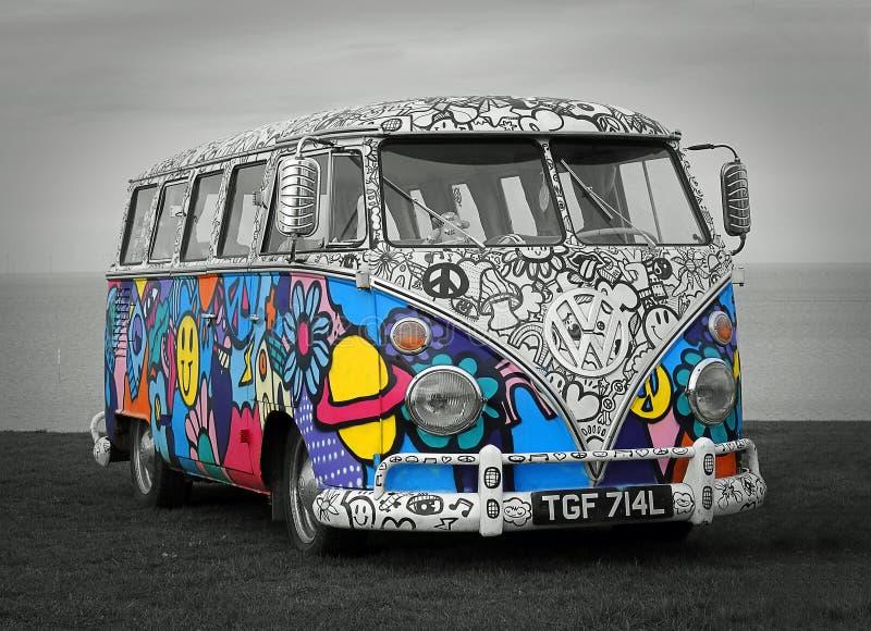 Винтажный клуб Volkswagen путешествуя стоковая фотография