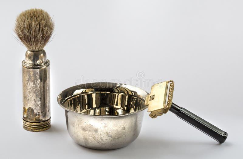 Винтажный комплект парикмахера стоковое фото rf