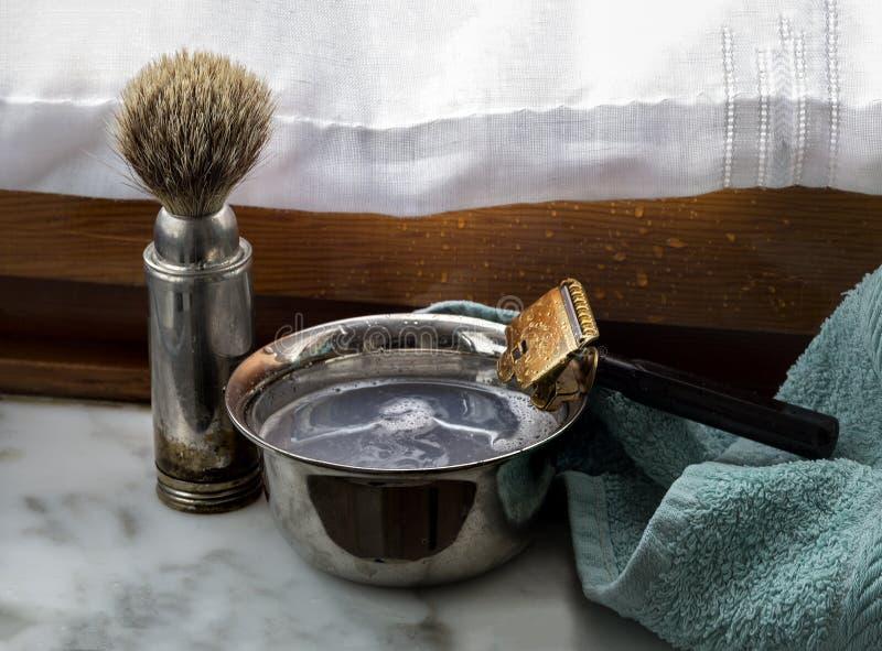 Винтажный комплект парикмахера стоковая фотография rf
