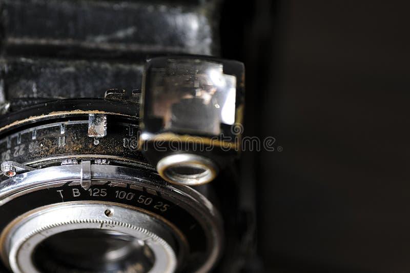 Винтажный конец-вверх объектива фотоаппарата стоковая фотография