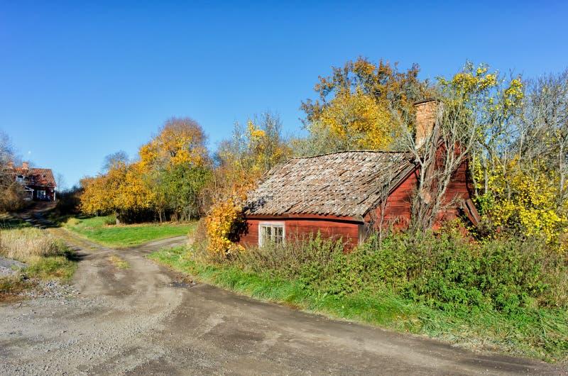 Винтажный коттедж в Швеции стоковые изображения rf