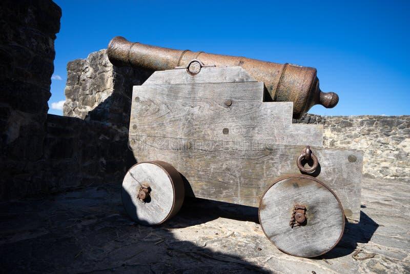 Винтажный колониальный миномет в Техасе стоковые фото