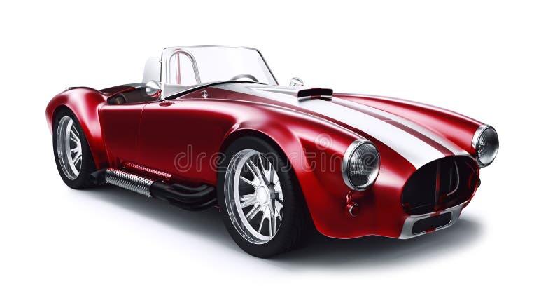 Винтажный красный автомобиль coupe иллюстрация вектора