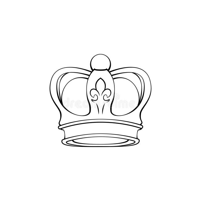 Винтажный логотип кроны Королевский король, символ ферзя абстрактный вектор изображения иллюстрации элемента конструкции вектор иллюстрация вектора