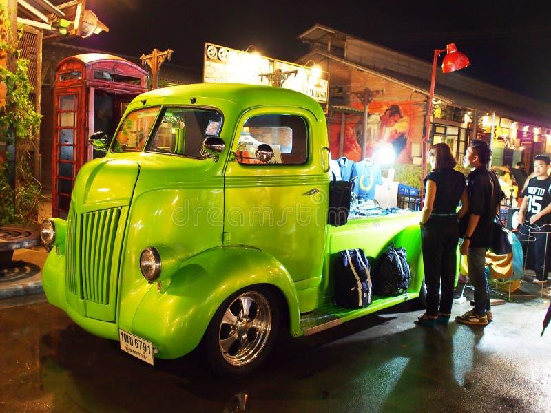Винтажный магазин автомобиля, Таиланд стоковое фото