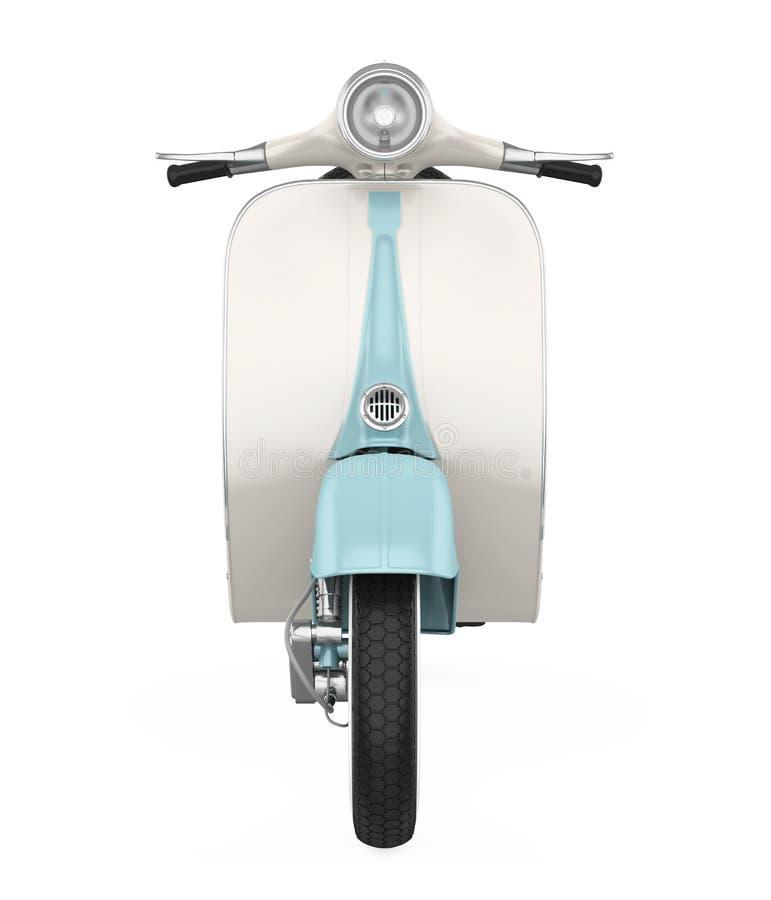 Винтажный мотоцикл скутера изолировал иллюстрация штока
