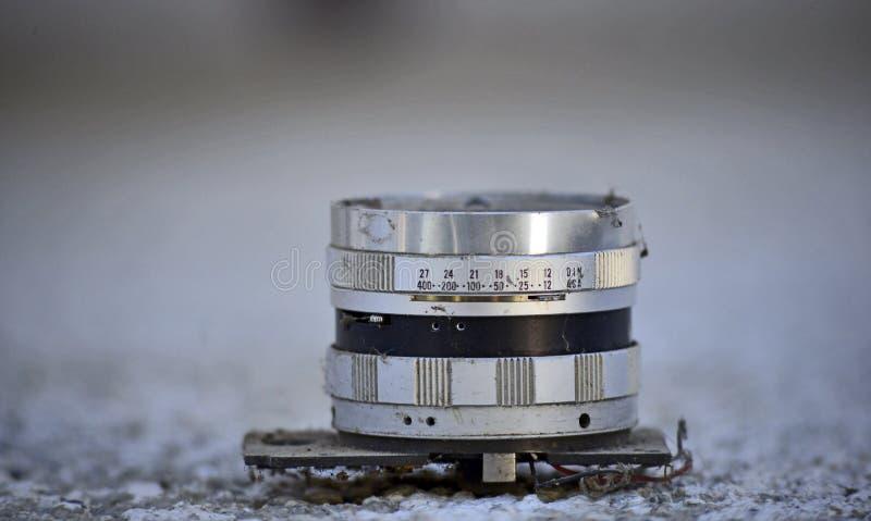 Винтажный объектив фотоаппарата стоковая фотография