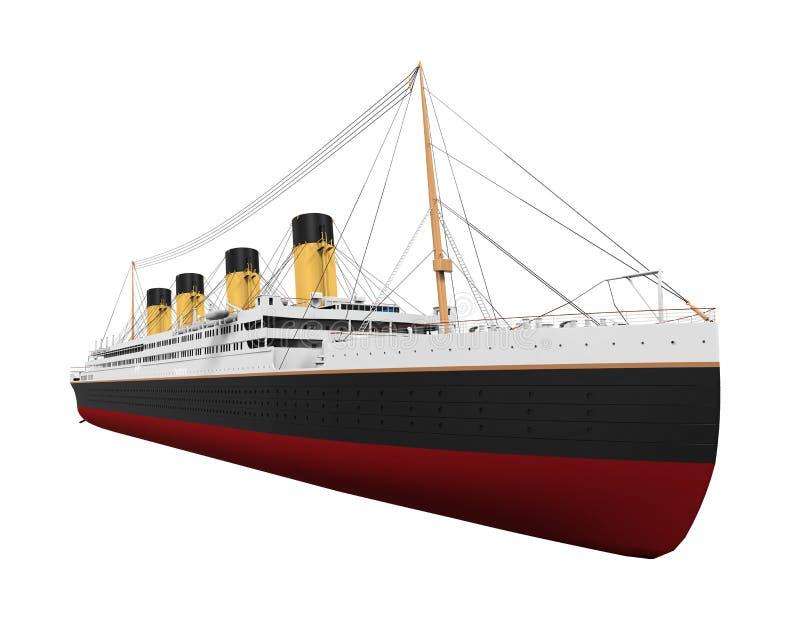 Винтажный океанский лайнер бесплатная иллюстрация