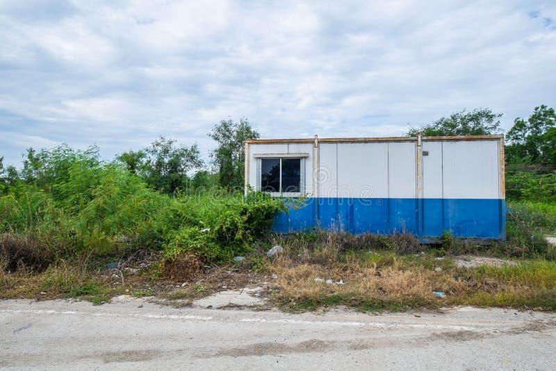 Винтажный дом кабины контейнера стоковое фото