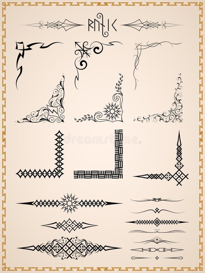 Винтажный орнамент и углы rune бесплатная иллюстрация
