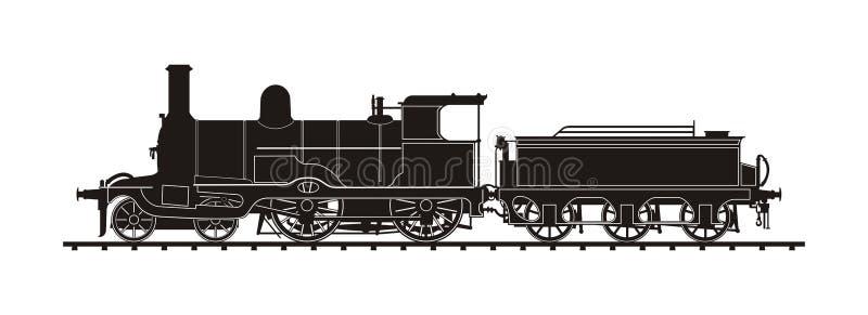Винтажный поезд иллюстрация штока