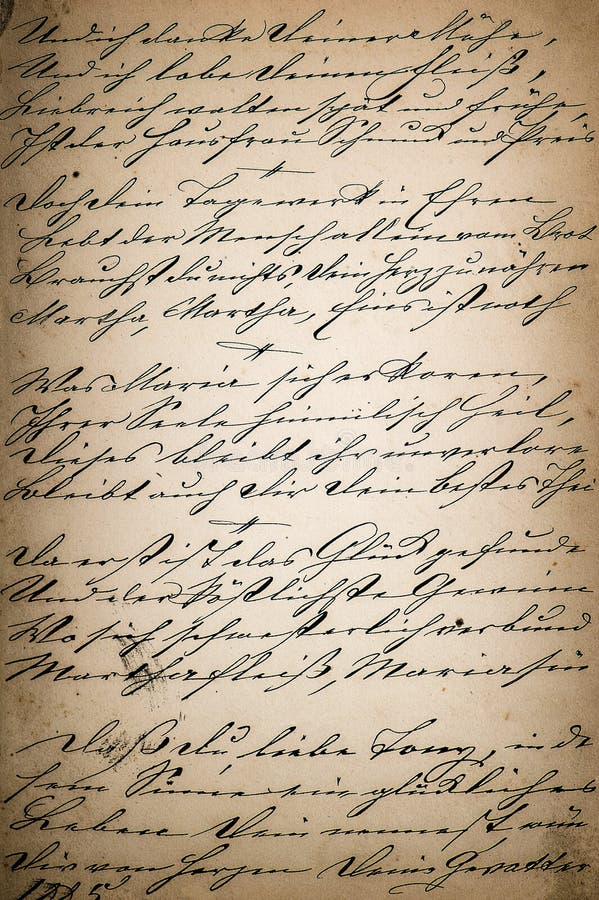 Винтажный почерк страница старой книги поэзии постаретое бумажное backgro стоковое изображение