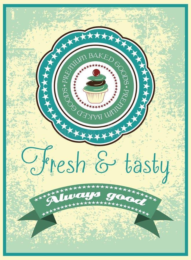 Винтажный плакат хлебопекарни бесплатная иллюстрация