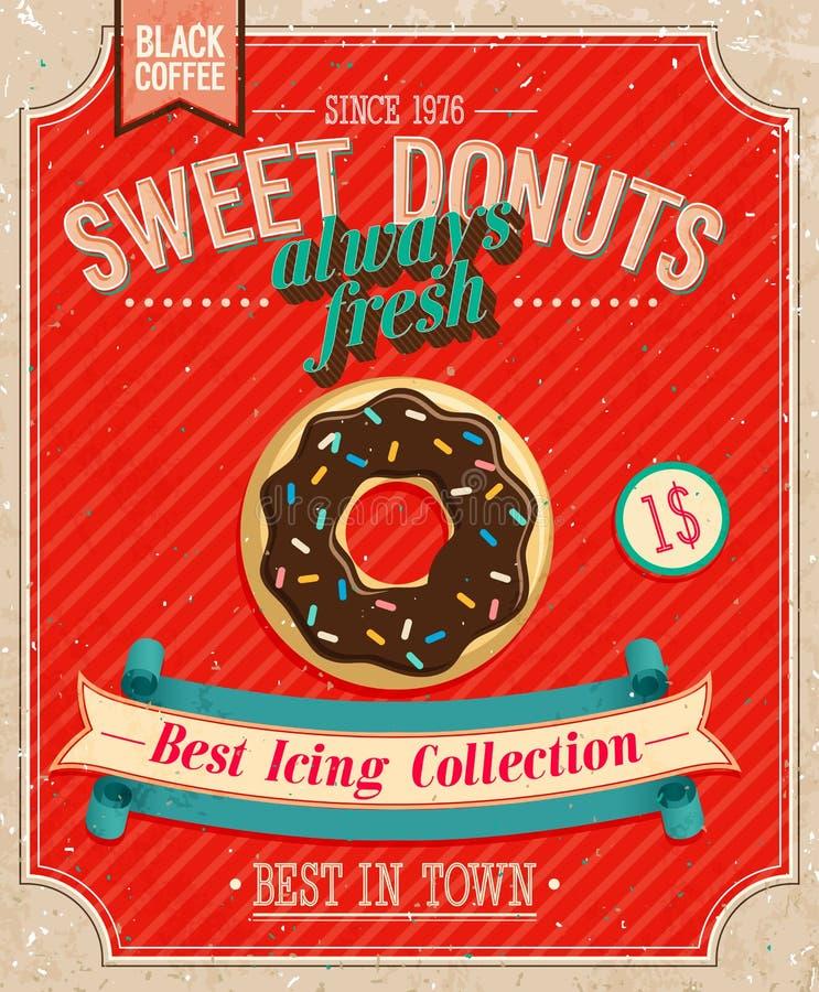 Винтажный плакат Donuts.