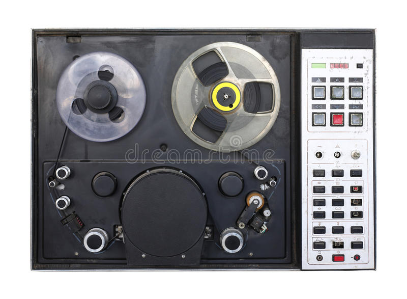 Винтажный рекордер видеоленты изолировано стоковые фото