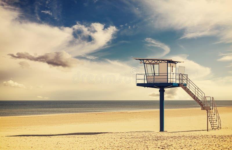 Винтажный ретро стиль фильтровал изображение башни личной охраны стоковые фото