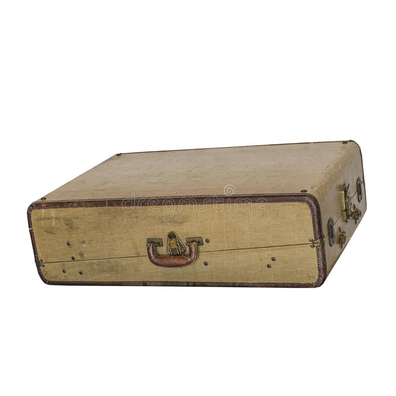 Винтажный ретро чемодан стареет worn предпосылка стоковые изображения