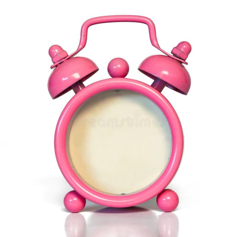 Винтажный розовый будильник - не прикройте без номера никакую сторону стоковое фото rf