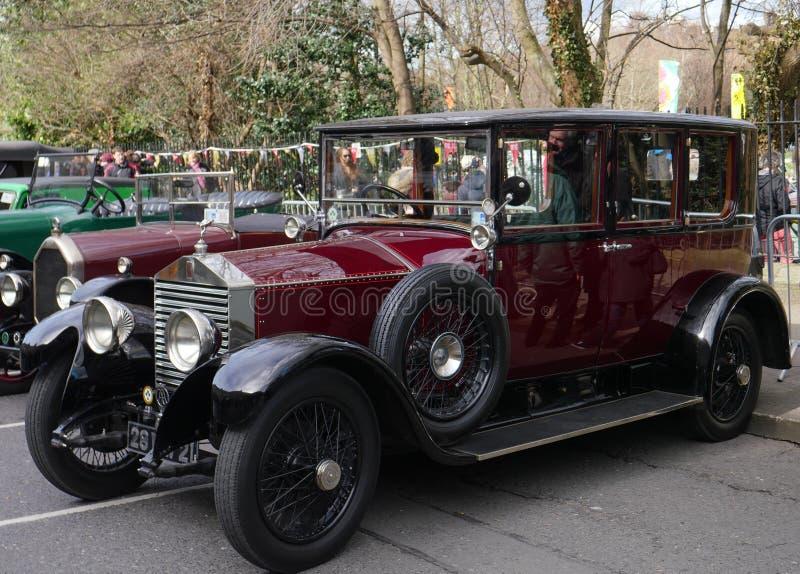 Винтажный роскошный автомобиль автомобиля 20HP Rolls Royce 1928 стоковые изображения