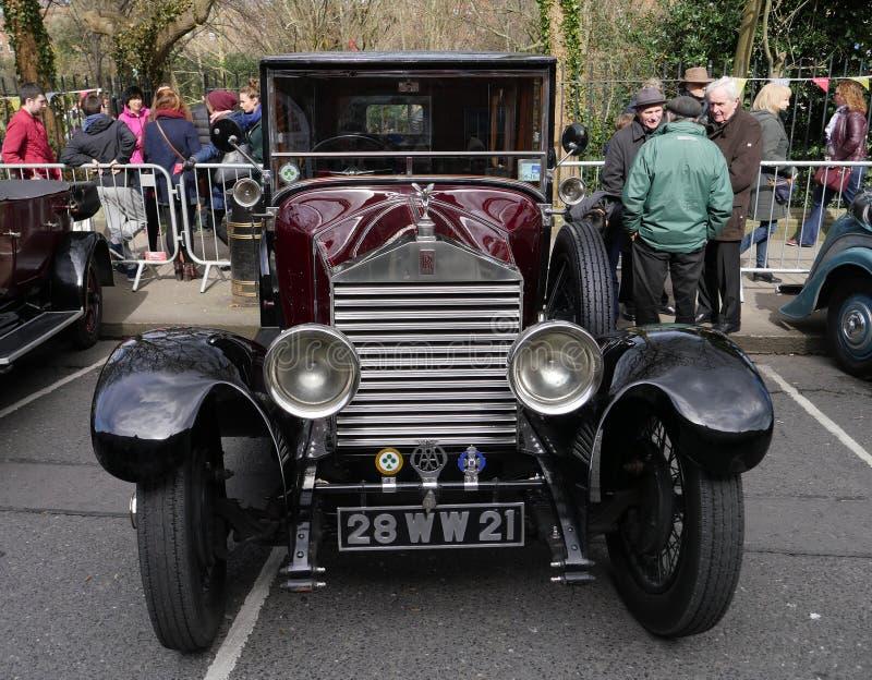 Винтажный роскошный автомобиль 20HP Rolls Royce 1928 стоковые фотографии rf