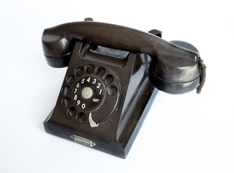 Винтажный роторный дисковый телефон Ericsson стоковые фотографии rf