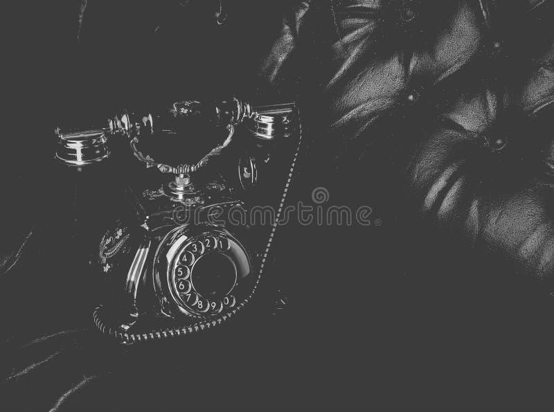 Винтажный роторный телефон стоковые изображения rf