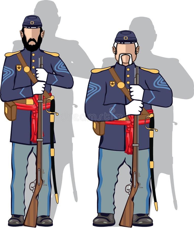Винтажный солдат иллюстрация вектора