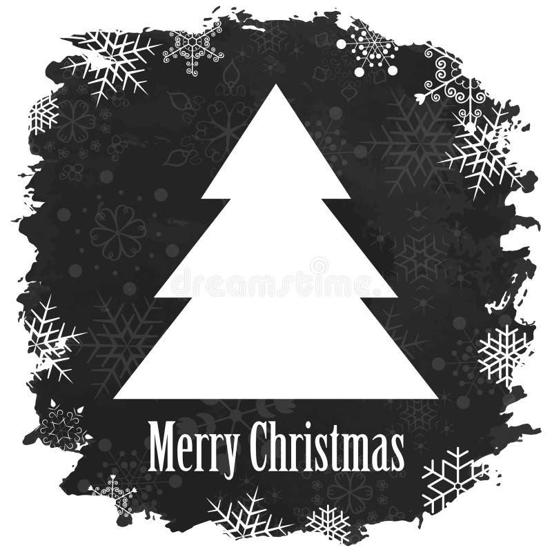Винтажный с Рождеством Христовым и счастливый Новый Год иллюстрация вектора