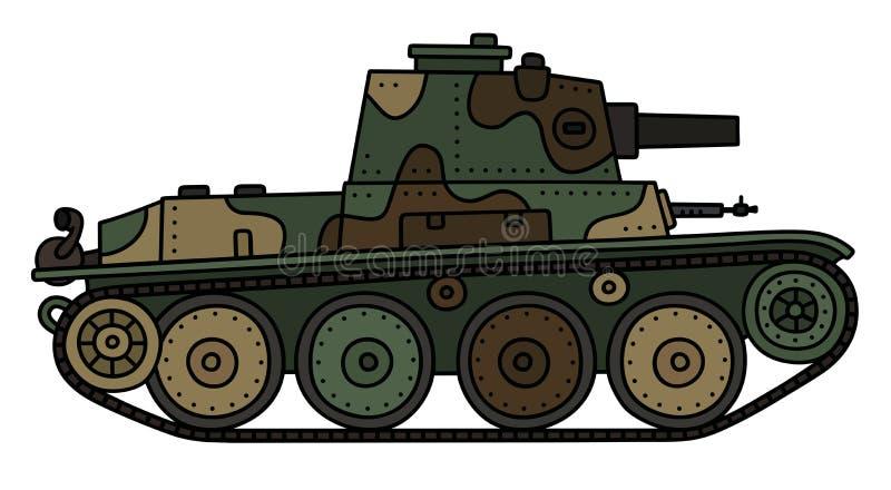 Винтажный танк камуфлирования иллюстрация вектора