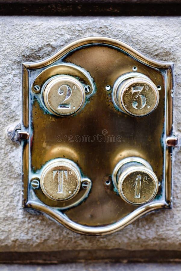 Винтажный телефон двери стоковая фотография rf