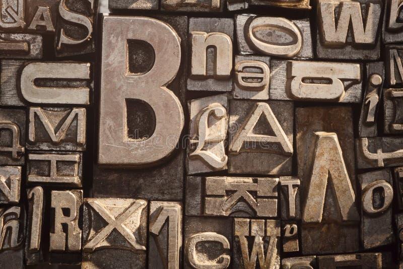 Винтажный тип предпосылка letterpress стоковое фото