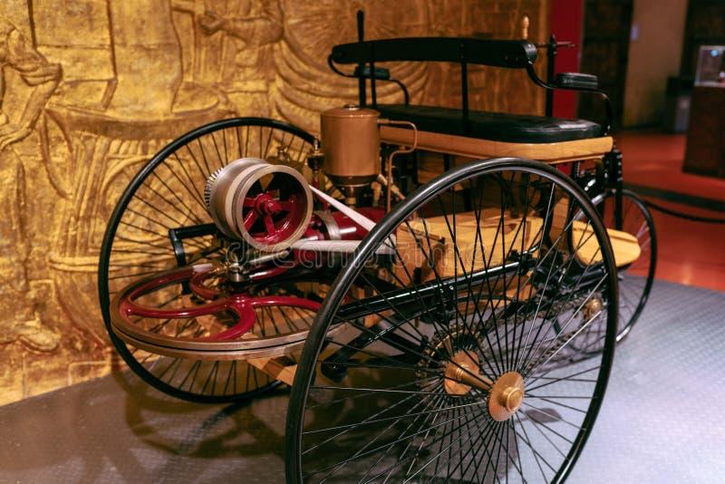 Винтажный трицикл мотора стоковые изображения rf